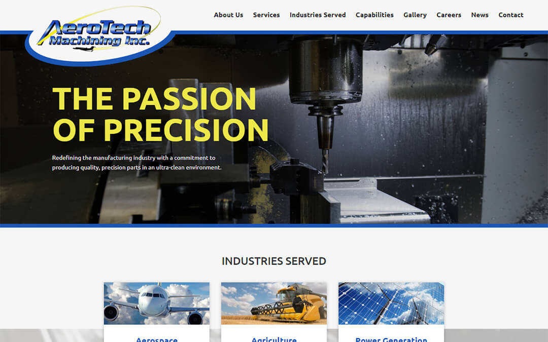 Welcome to the Brand-New Aerotech Machining Website